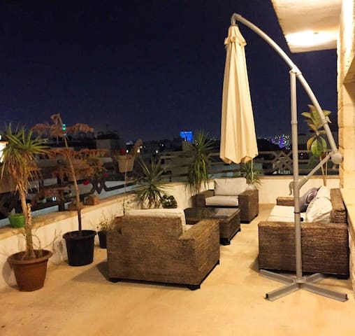 Rooftop with a beautiful view in Abdoun