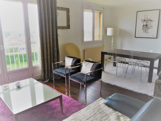 10 Min. Rouen Appartement 65 m2-2 chambres-parking - Le Petit-Quevilly - อพาร์ทเมนท์