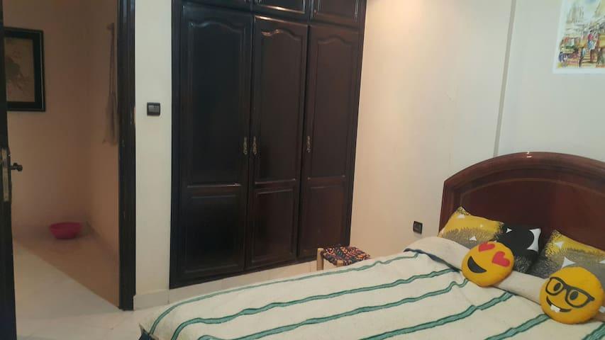 Lovely bedroom in center of tanger+2min to beach