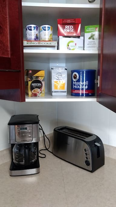 Assortment of coffee and tea