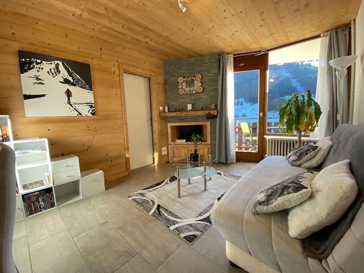 Appartement au pied des pistes de ski
