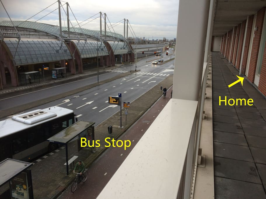 Bus Stop Right Downstairs