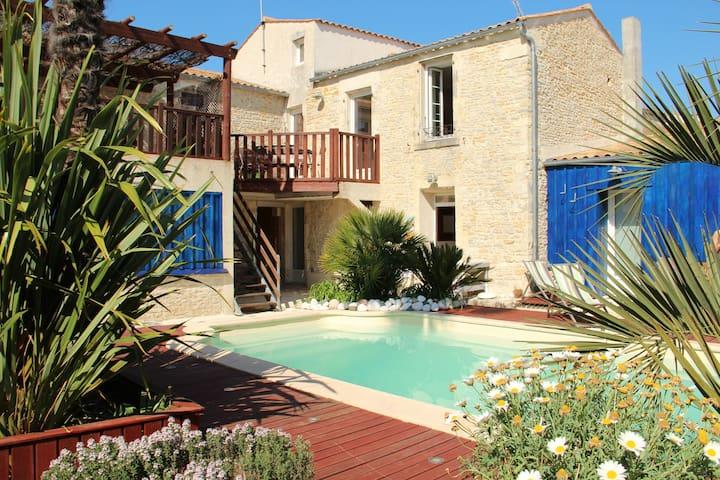 Appt 50m², 2 chambres, terrasse, piscine chauffée - Saint-Georges-d'Oléron - Wohnung