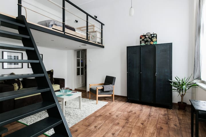 Bright Loft In Budapest's VII. District