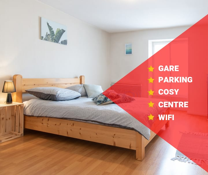 ✪ COSY ✪ PARKING ✪ GARE ✪ CENTRE VILLE ✪