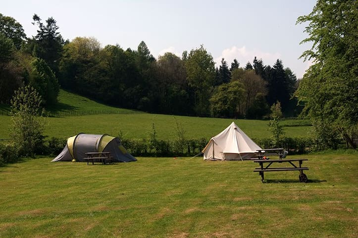 Beautiful rural field for camping