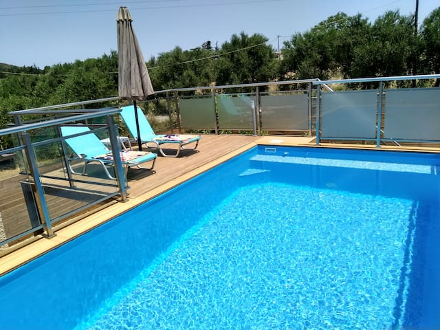 """Erofili"" family house private  heated  pool"