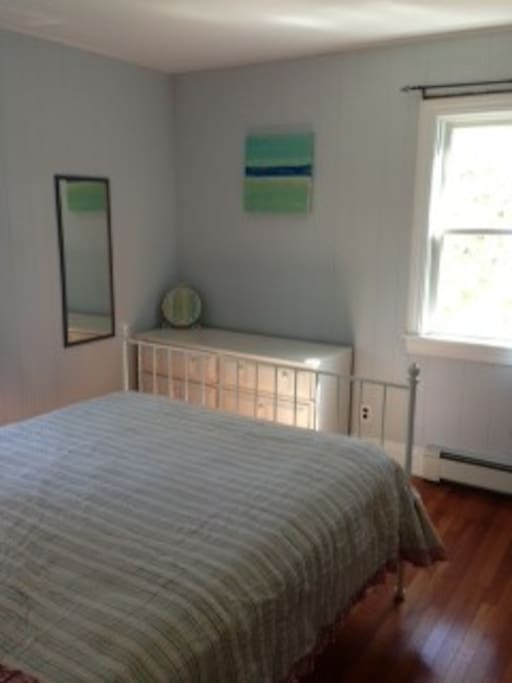 Master bedroom- queen bed with 2 dressers and closet. A/C avail.