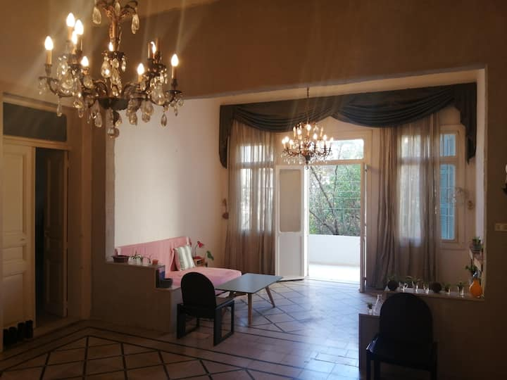 Unserbeyt - Spacious high ceiling flat with garden