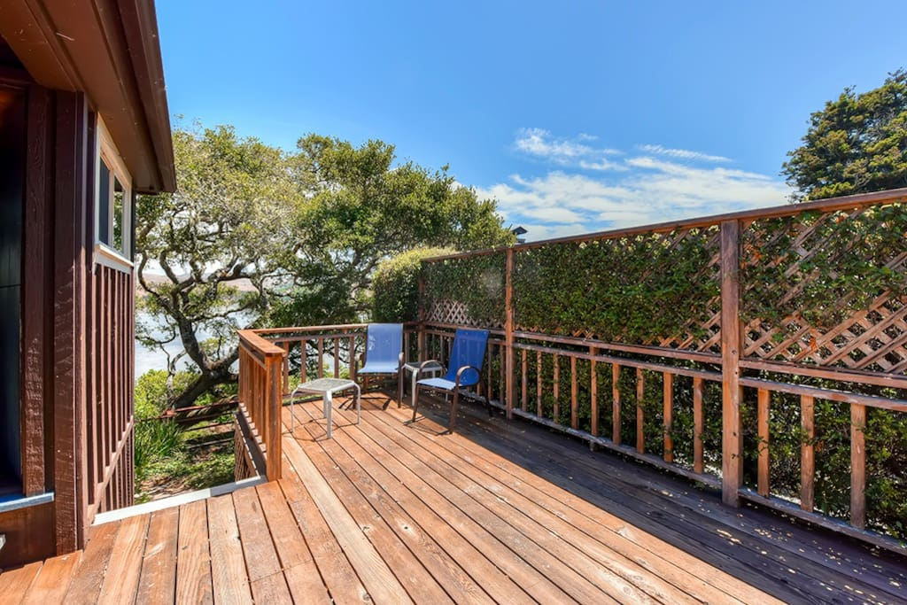 Step up to this spacious deck to enjoy the surrounding scenery