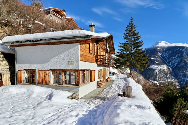 Beautiful chalet for 10 people in Vercorin