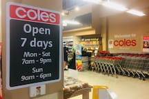 10 minutes walk to nearest Coles (crossroad Mollison St & Boundary Rd, WestEnd)