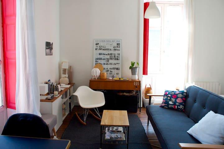 Appartement lumineux - quartier de la création - Nantes - Apartemen