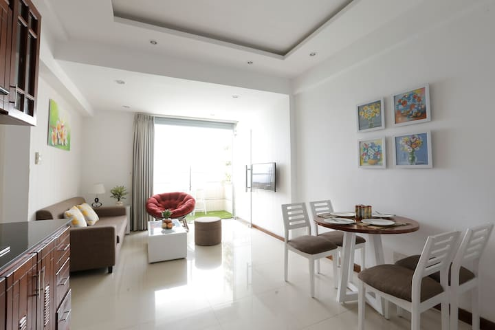 Living room, comfortable sofa