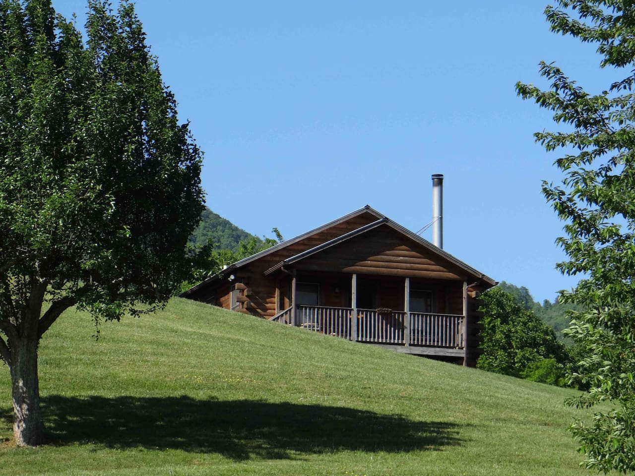 This is the front of the Cherokee Cabin.