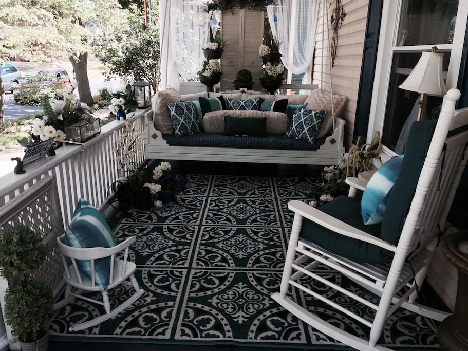 porch with twin size swing#6