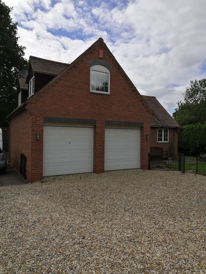 Self contained annexe with large lounge.