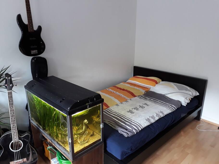 Das Bett ist 200x140cm