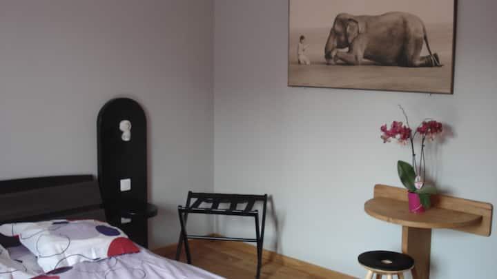 chambre N°1 chatillon centre et jardin pour 2 pers