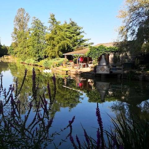 Chalet de carpiste et étang privé - Le PAL 12 Km