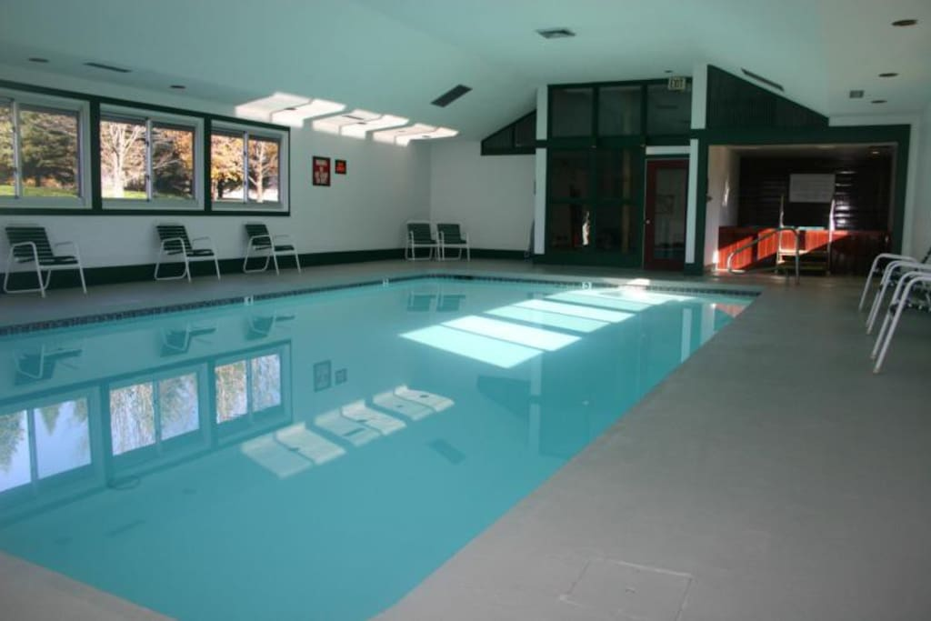 Indoor pool is available for you.
