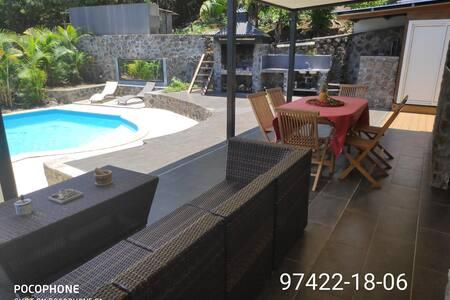 Appt rez de jardin + piscine privée+ parking privé