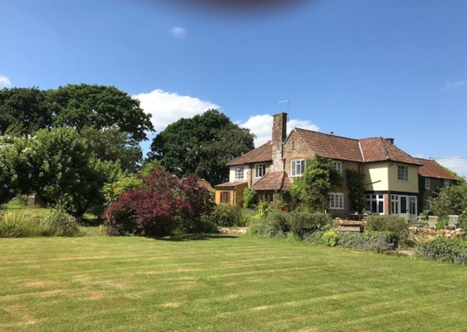The Garden Annexe is surrounded by glorious gardens