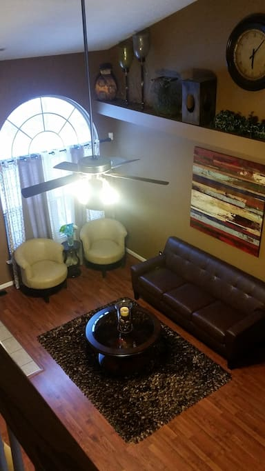 Living room view from the 2nd floor.