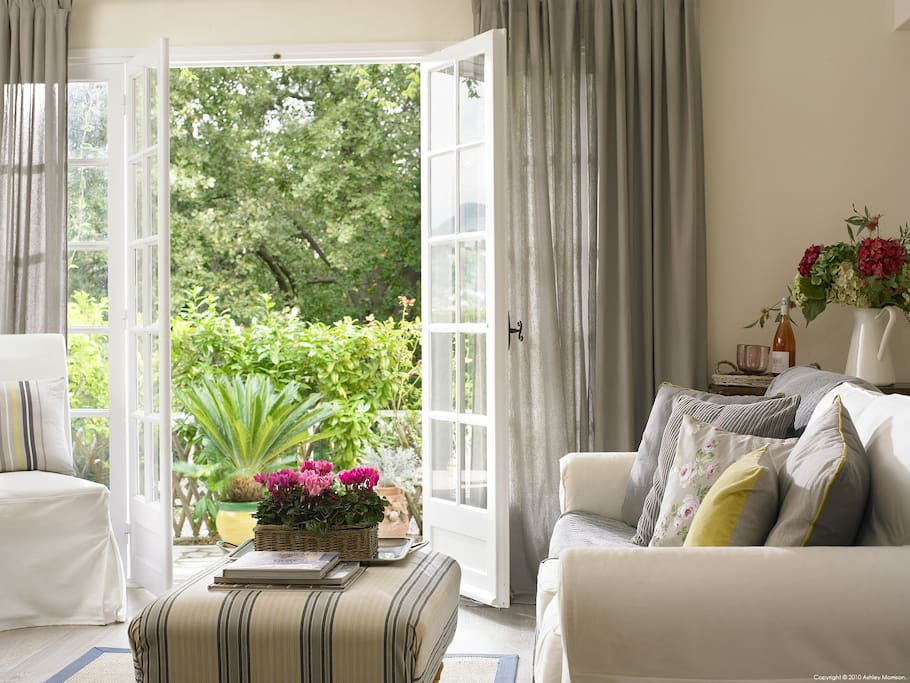 Throw open the French doors and allow the smell of Jasmin to float in!