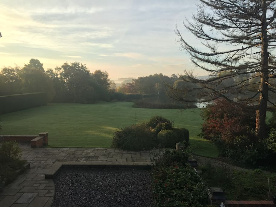 Early morning view from the Main Bedroom