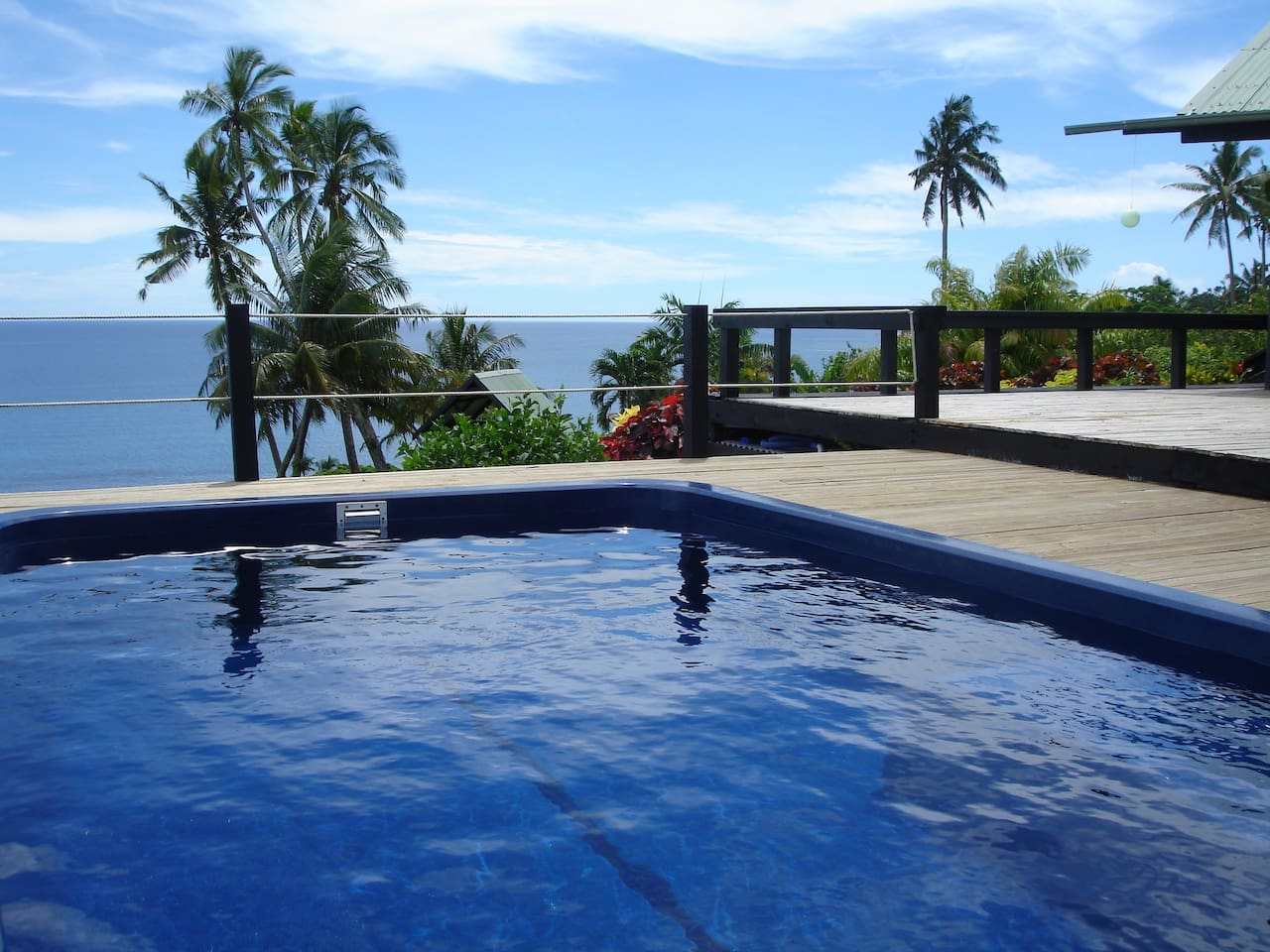 Pool with great sea views