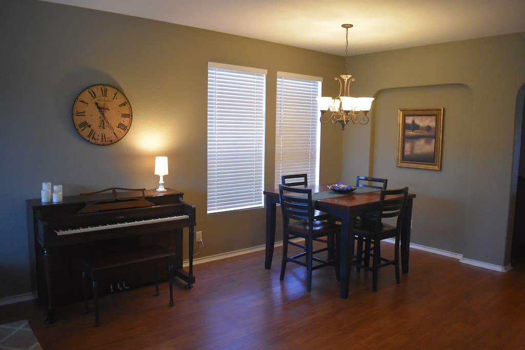 Dining Area #1 for small groups. Great for Family Game Night.