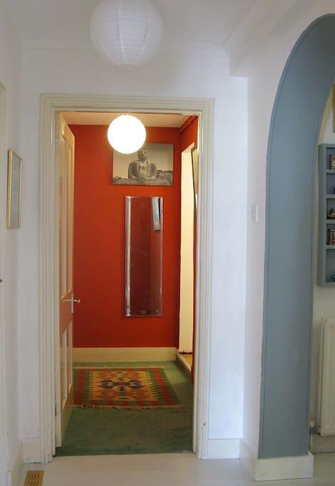 Bathroom anteroom from hall