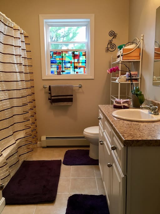 Private full bathroom with washer/dryer in the bathroom