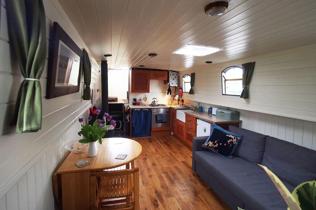 Roisin Dubh Houseboat, Sallins, Co Kildare, Ireland.