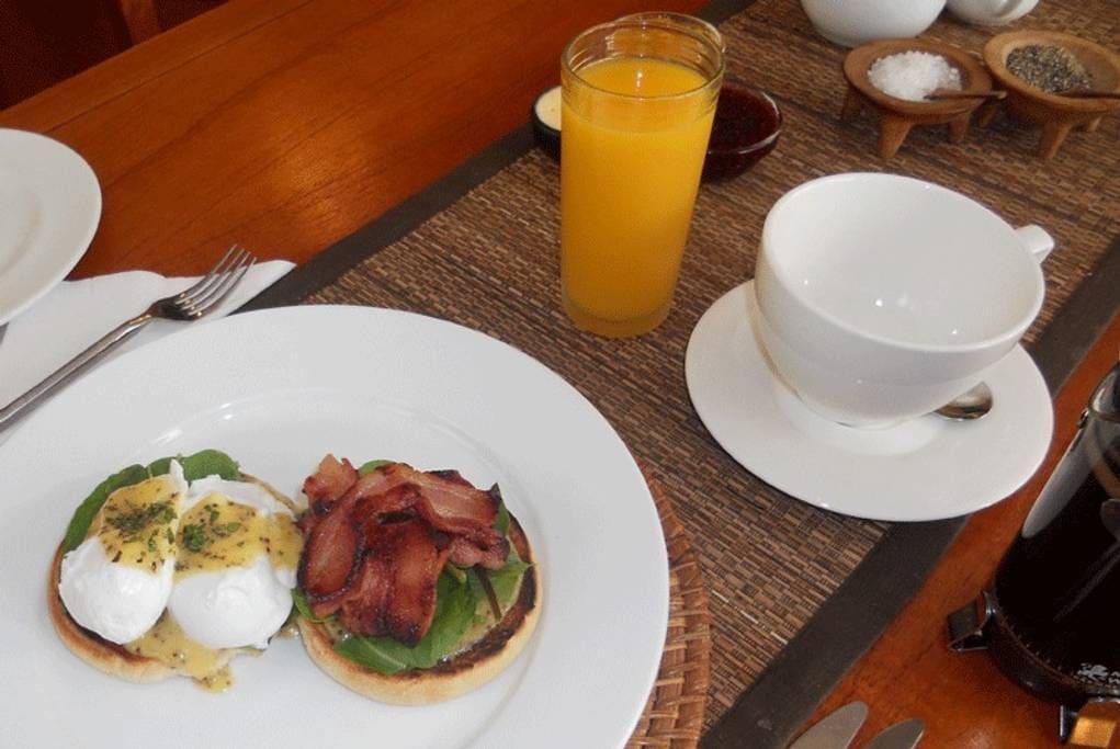 Gourmet breakfast is included in the tariff
