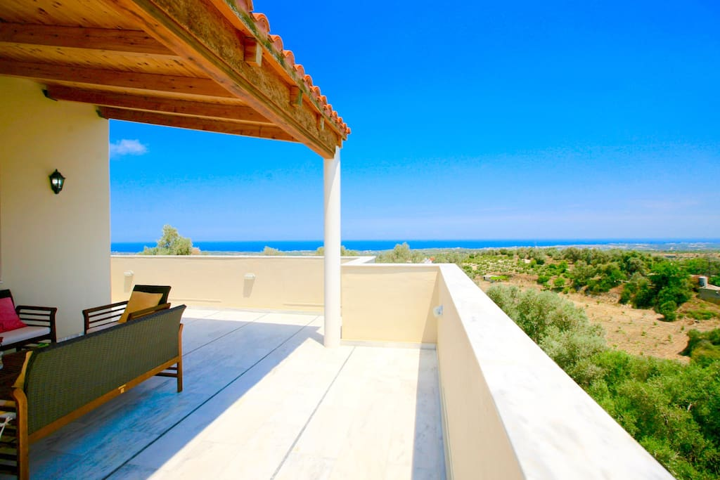 Large terraces and panoramic views