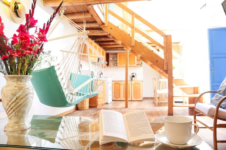 Charming, wooden and sunny apartment