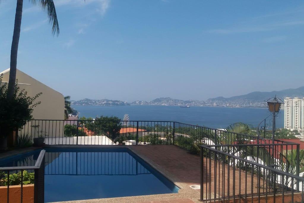 vista a la Bahía de acapulco