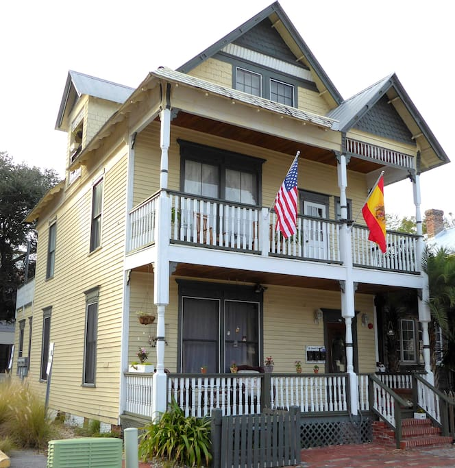 The 3 story house is a traditional Victorian.  Unit is located on second floor only.
