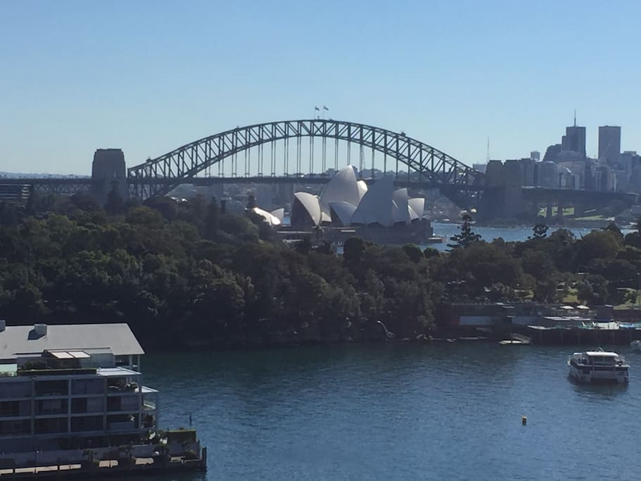 Amazing Sydney Harbour and city views from the large rooftop communal entertaining area!