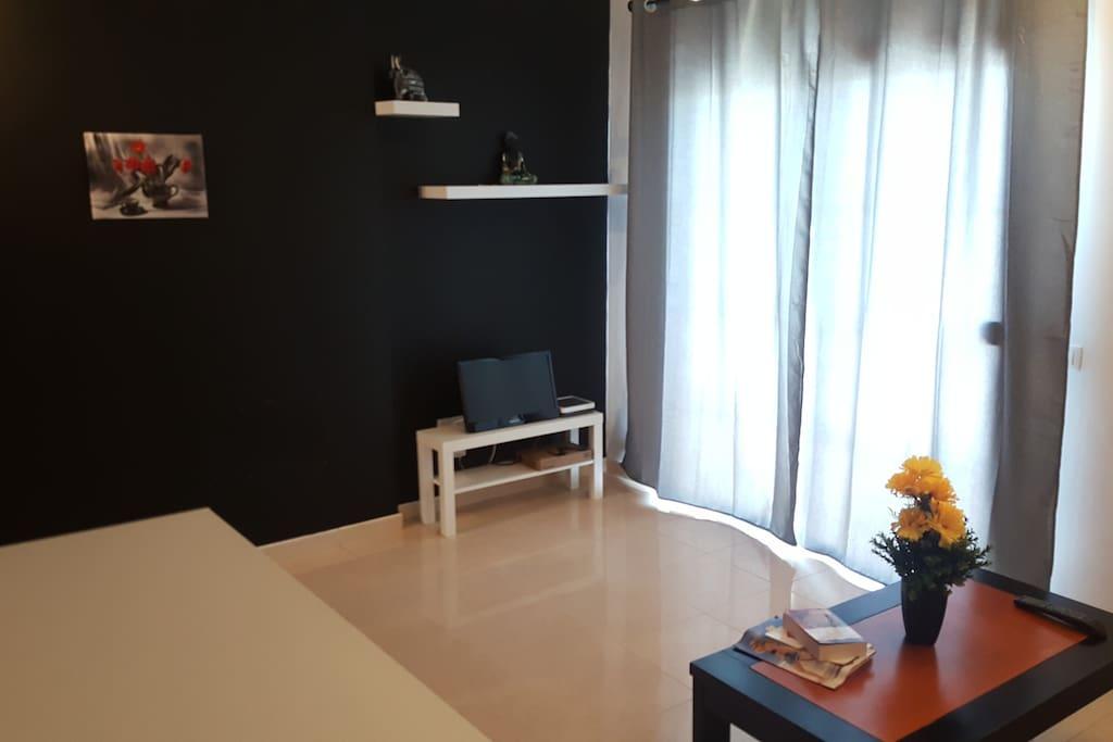 salón dispone de TV y sofá-cama para 2 personas