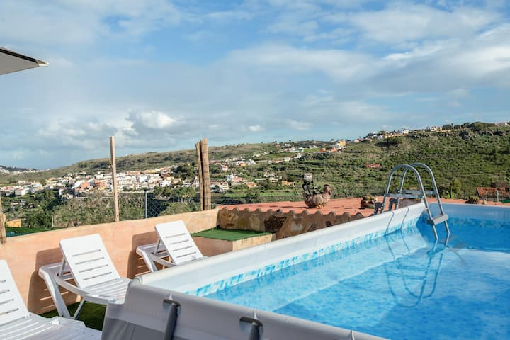 Villa 'Casa Las Flores' with Mountain View, Wi-Fi, Garden, Terraces & Small Pool; Parking Available