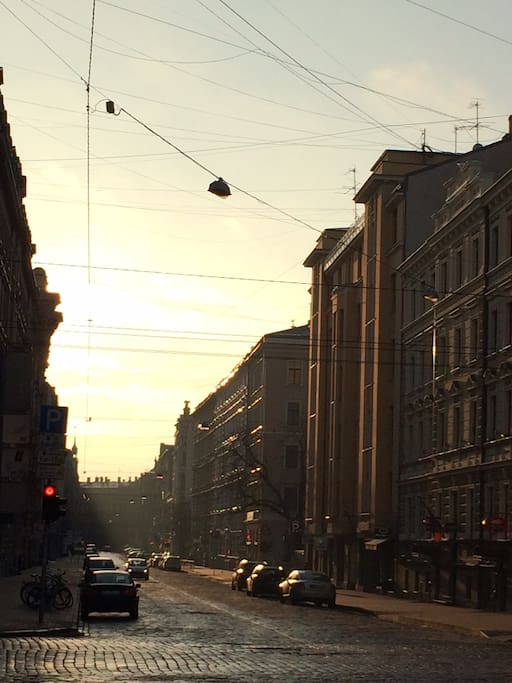 The street look of Riga ( -during early mornings)