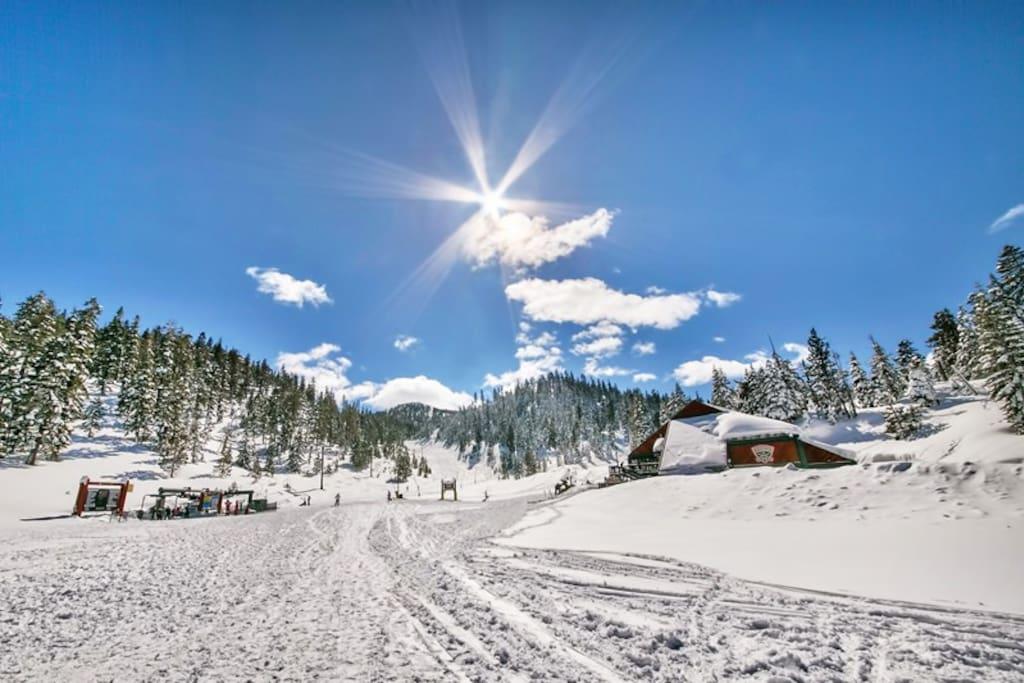 Short walk to Heavenly's Boulder Ski Lodge.