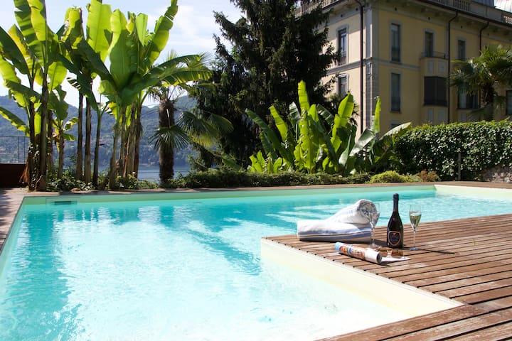Villa Vecchia Poncetta Carina - Lake Front - Tremezzina - Apartment