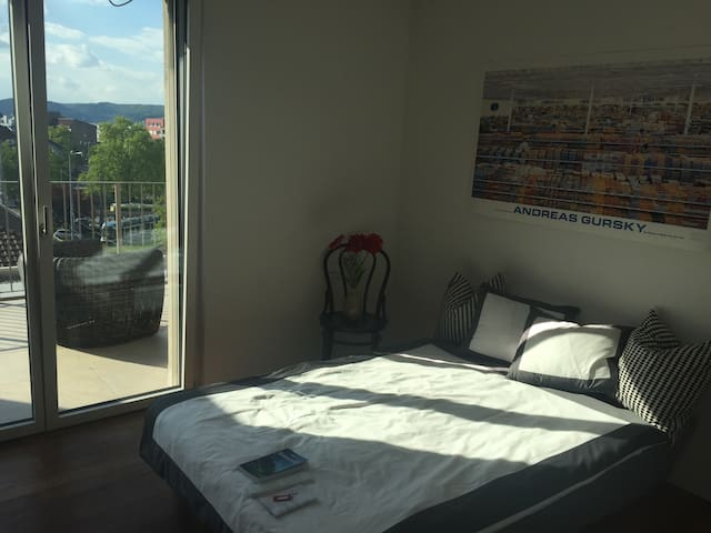 Room in attic floor apartment with beautiful view - Zúrich - Departamento