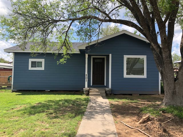 Little Blue House on the Block