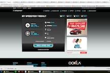 Unlimited Internet Speed 30Mbps.  Actual Speed Test. Download 20.76Mbps. Upload 11.59Mbps.