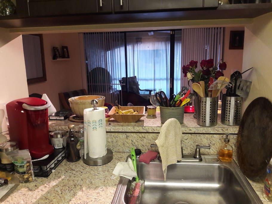 Kitchen view of lanai